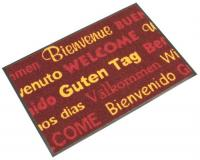 Washable Welcome Mat - Red