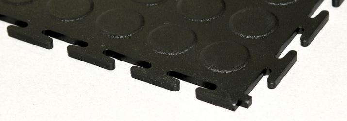 Pardoseli modulare anti-alunecare - negru