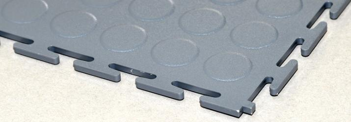 Pardoseli modulare E500/7 dark grey raised disk