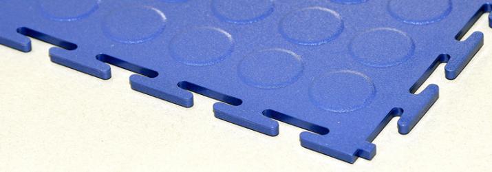Pardoseli modulare anti-alunecare - albastru