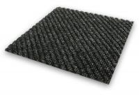 Toughrib Diagonal ribbed Charcoal entrance mat